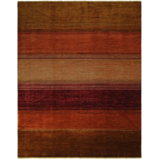 Peshawar Wyatt Rust/Brown Wool Rug - 9'4 X 11'10
