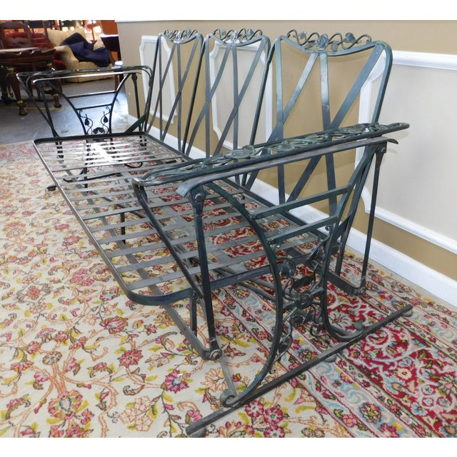Vintage Lee Woodard Amp Sons Wrought Iron Glider Sofa Chairish