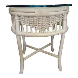 Ficks Reed Style Round Bamboo Rattan Table