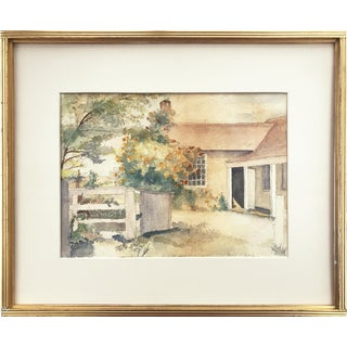 Vintage Cottage Garden Watercolor by Clifford