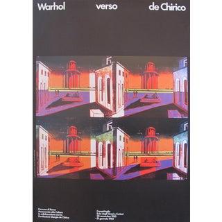 1982 Andy Warhol verso de Chirico Original Exhibition Poster