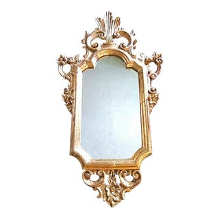 Vintage Italian Baroque Gold Gilt Wall Mirror