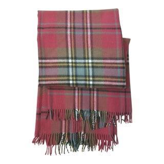 Oversized Scottish Wool Plaid Blanket