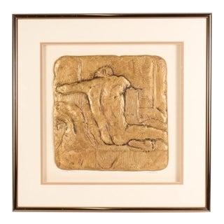 """Figure Study I"" Framed Figural Sculpture Art Signed F. McLain"