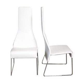B&B Italia Lazy 05 High Back Dining Chairs - Pair