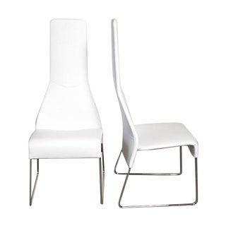 B&B Italia Lazy 05 High Back Dining Chairs - Pair