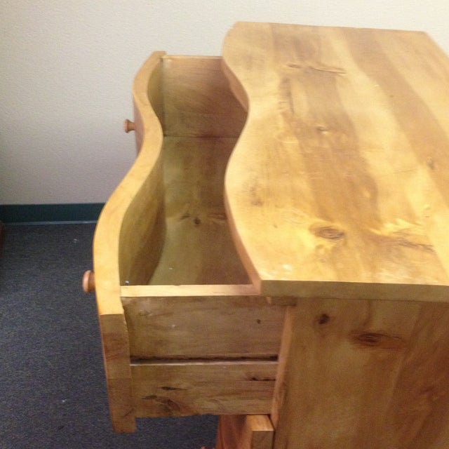 Large Curved Front Three Drawer Dresser - Image 9 of 9