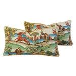 Image of Designer Brunschwig & Fils Medieval Pillows - Pair