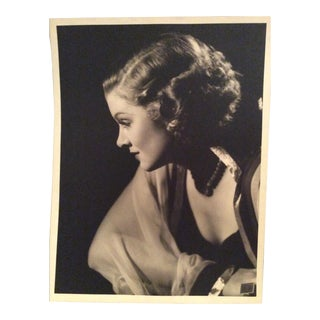 Vintage Myrna Loy Photograph Stamped by Clarence Sinclair Bull