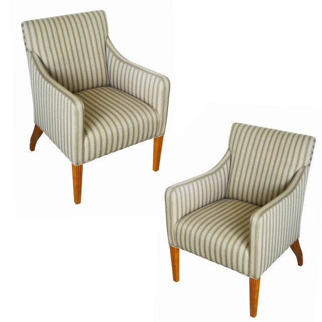 Tommi Parzinger Style Club Chairs Pair Chairish