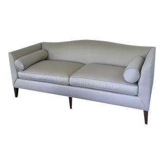 Baker Archetype Taupe Silk Sofa