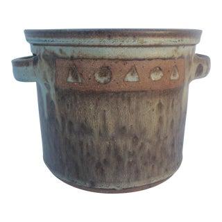 Vintage Art Pottery Brown Planter