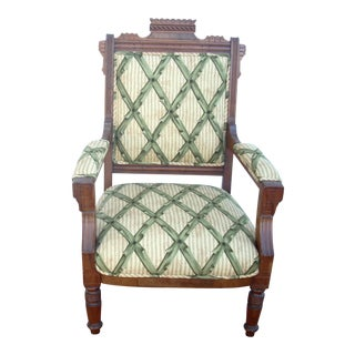 Victorian Eastlake Style Upholstered Slipper Chair