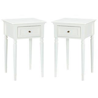 Pottery Barn White Wooden Nightstands - a Pair