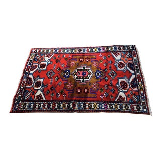 Vibrant Bright Vintage Wool Persian Rug - 4′2″ × 6′9″
