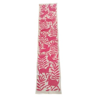 Pink Otomi Runner Handmade in Mexico