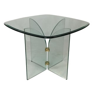 Pace Square Glass & Brass Table