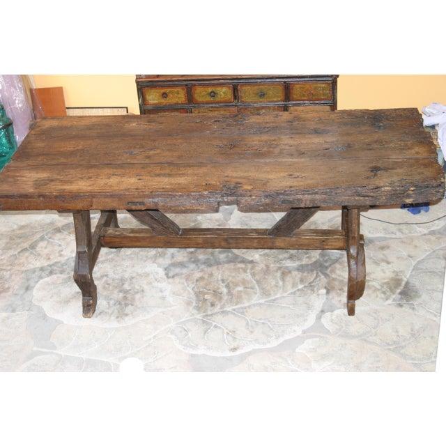 17th Century Antique Spanish Door Dining Table