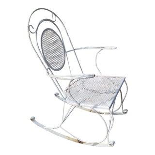 Mid-Century Iron Rocking Chair