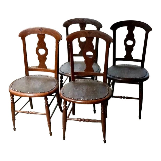 Antique Dining Chairs - Set of 4 - Image 1 of 5