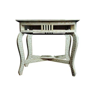 Bone Inlay Console Table Mosaic Style