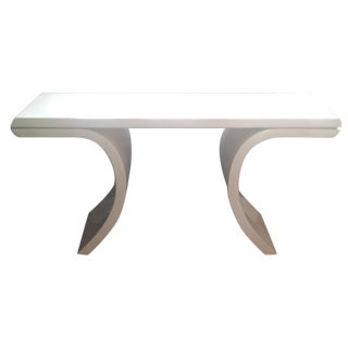 Lacquered Karl Springer Style Console Table
