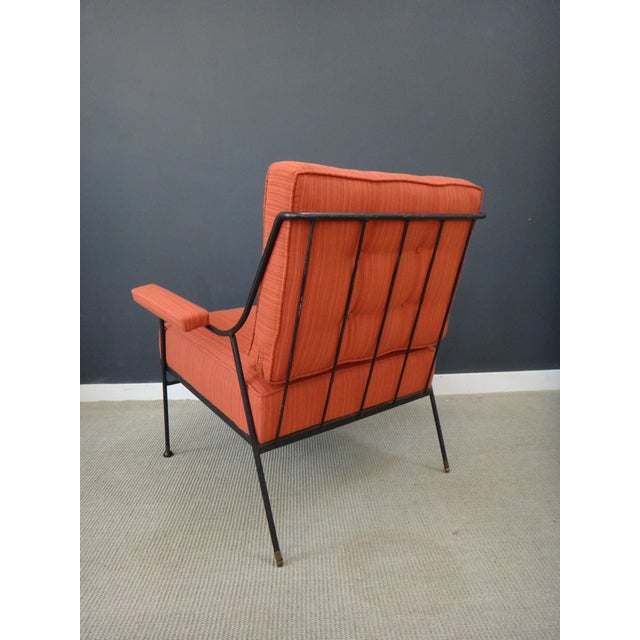 Mid Century Upholstered Chair and Ottoman - Image 5 of 6