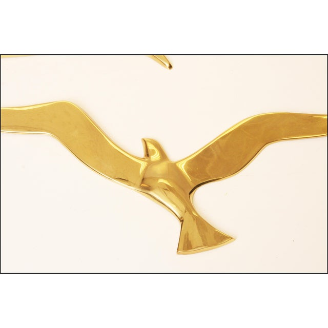 Mid-Century Modern Brass Birds Wall Art - Image 5 of 11