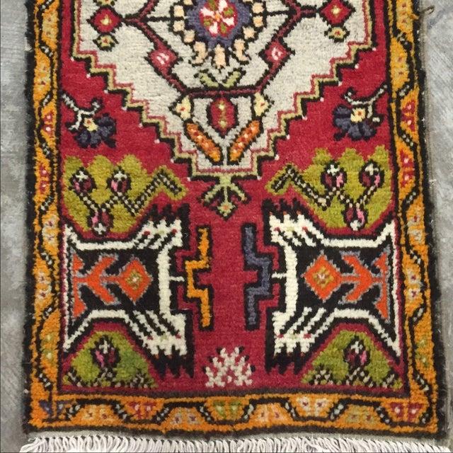 "Antique Anatolian Persian Rug - 1'7"" x 3'4"" - Image 4 of 8"