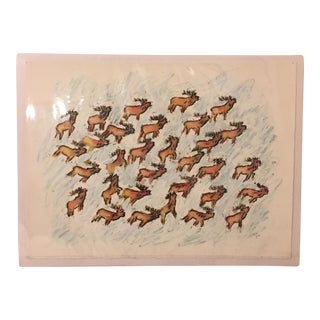 Original Reindeer Drawing