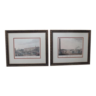 Antique English St Petersburg Engravings - a Pair