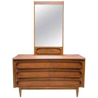 Mid Century Walnut Low Dresser In The Manner of Edmund Spence
