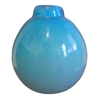 Blue West Elm Bud Vase