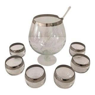 Dorothy Thorpe Silver Rim Martini Set