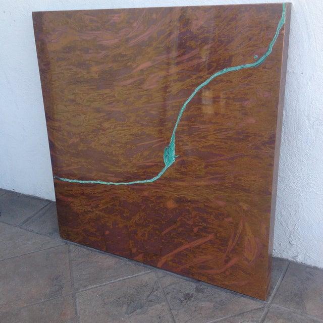 Square Contemporary Copper Art Piece. - Image 3 of 6