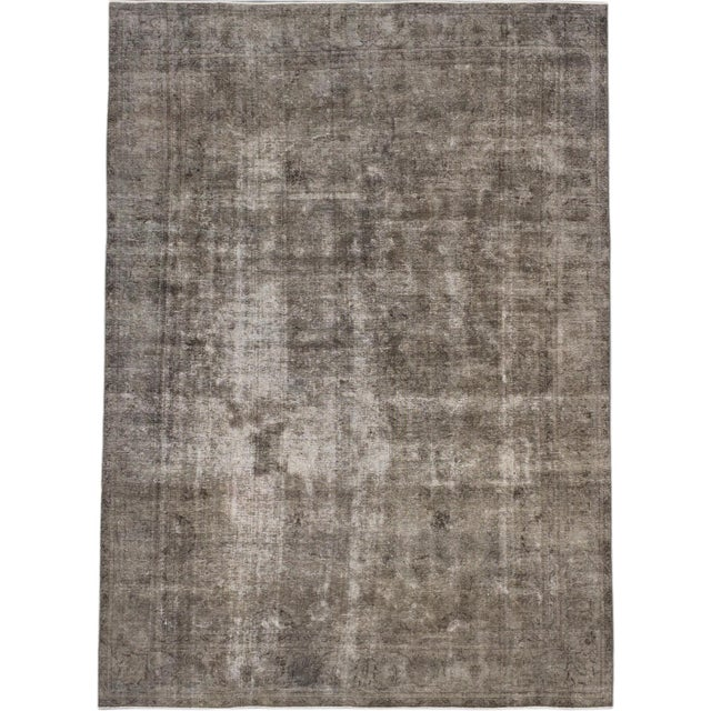 """Vintage Turkish Gray Over-Dyed Rug - 10' X 13'5"""" - Image 1 of 2"""