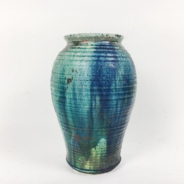 Vintage California Modern Style Drip Glaze Vase - Image 2 of 8