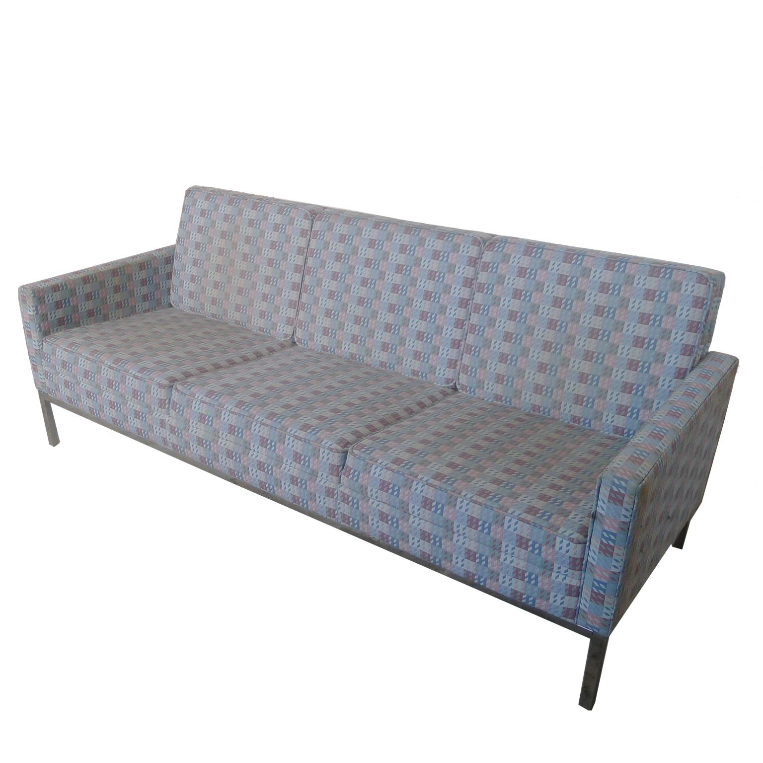 Vintage Steelcase Florence Knoll Style 3 Seat Sofa   Image 2 Of 7