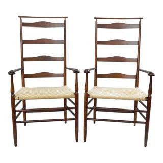 No. 5 Shawl Back Shaker Wood Armchairs - A Pair