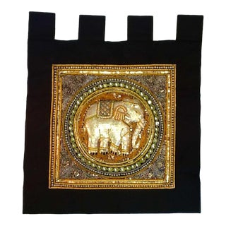 Vintage Elephant Tab Top Wall Hanging