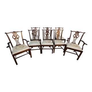 Hickory Chair Co Chippendale Style Mahogany Chairs - Set of 8