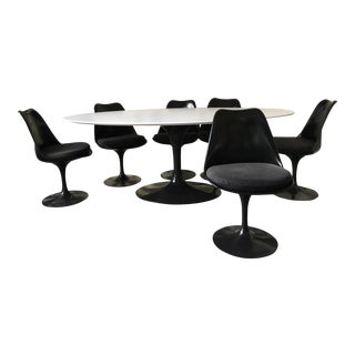 Knoll Tulip Dining Table and Chairs - Set of 6