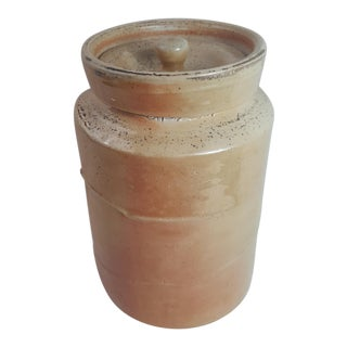 Stoneware Lidded Crock Pot