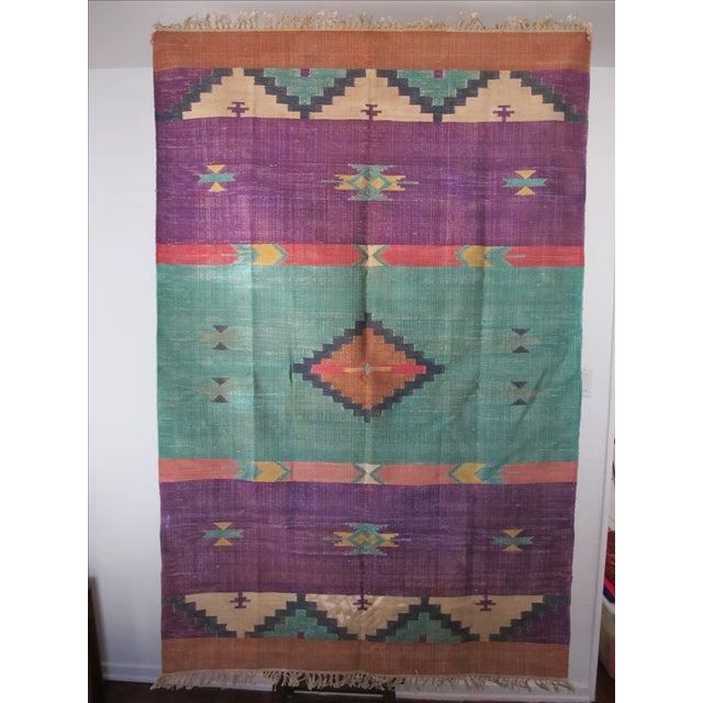 Santa Fe Flat Weave Rug - 4′ × 6′ - Image 4 of 4