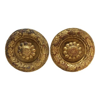 Palladio Italian Gesso Curtain Tie Backs -- A Pair