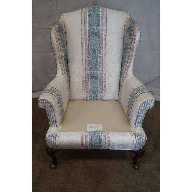Highland House Hickory Queen Anne Wing Chair - Image 5 of 10