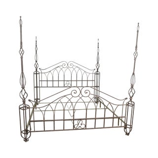 Custom King Size Wrought Iron Poster Bed