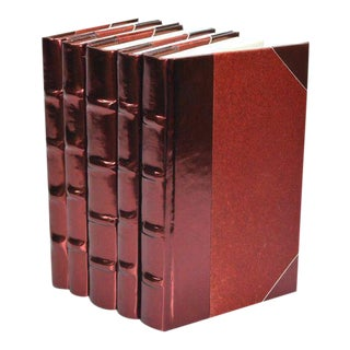 Metallic Collection Sangria Red Books - Set of 5