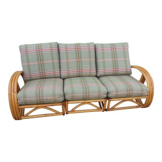 Vintage Paul Frankl Style Rattan Sectional