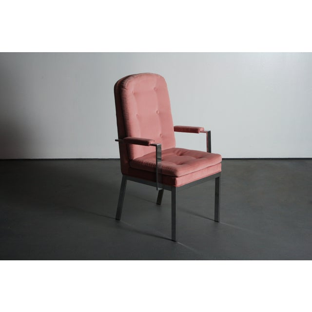Milo Baughman for DIA Blush Dining Chairs - S/6 - Image 7 of 12